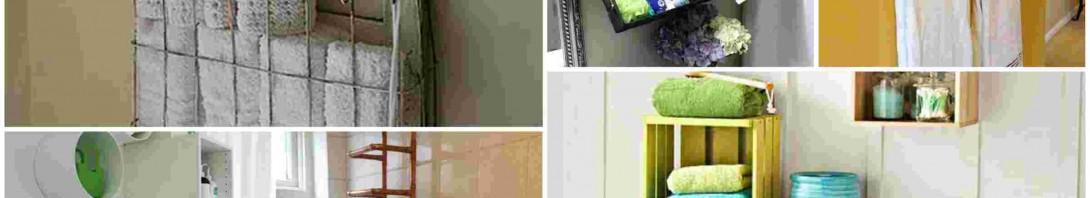 Εξυπνες DIY ιδέες για να κρατήσετε τις Πετσέτες στο μπάνιο Οργανωμένες