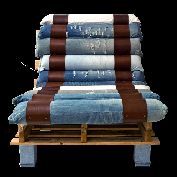 Πολυθρόνα κατασκευασμένη από παλέτες και τζιν4