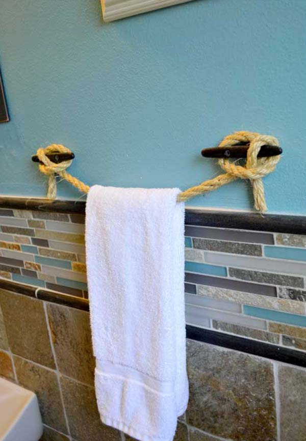 DIY ιδέες οργάνωσης για τις πετσέτες του μπάνιου σας.1