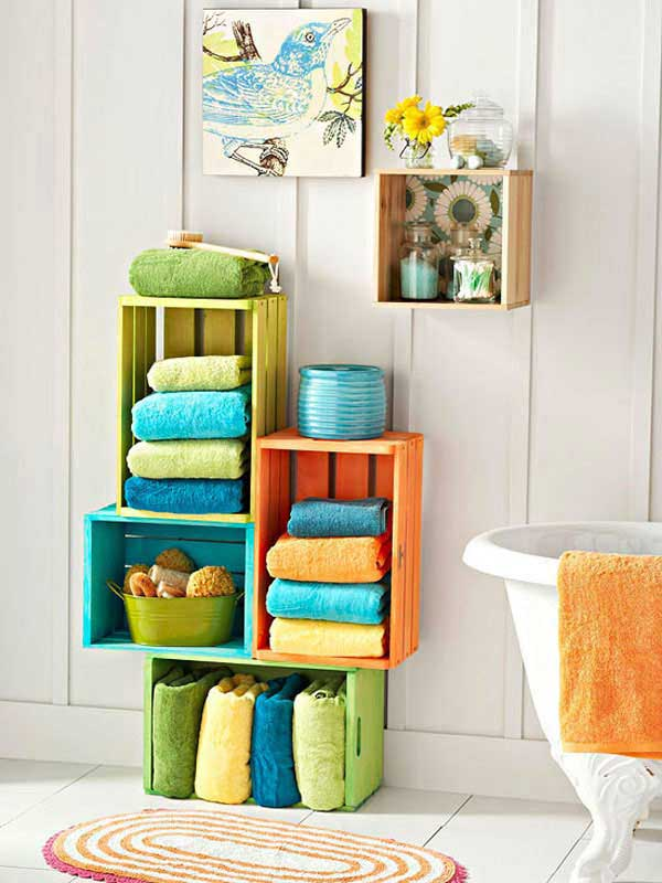 DIY ιδέες οργάνωσης για τις πετσέτες του μπάνιου σας.11