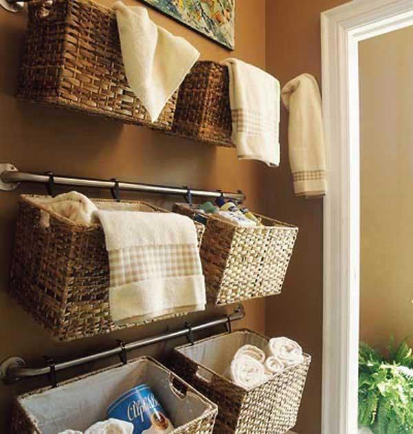 DIY ιδέες οργάνωσης για τις πετσέτες του μπάνιου σας.6