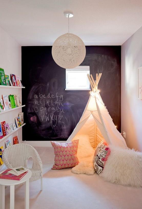Ιδέες ντεκόρ μαυροπίνακα για παιδικά δωμάτια12