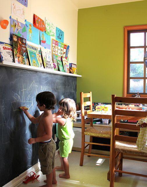 Ιδέες ντεκόρ μαυροπίνακα για παιδικά δωμάτια16