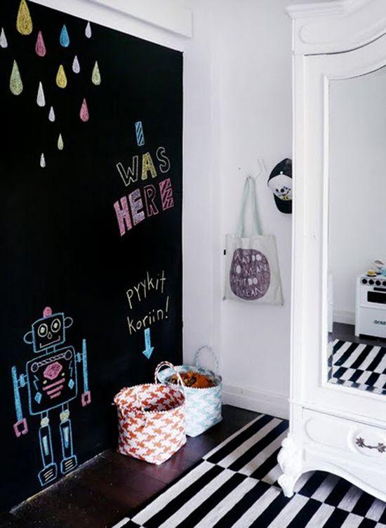 Ιδέες ντεκόρ μαυροπίνακα για παιδικά δωμάτια19