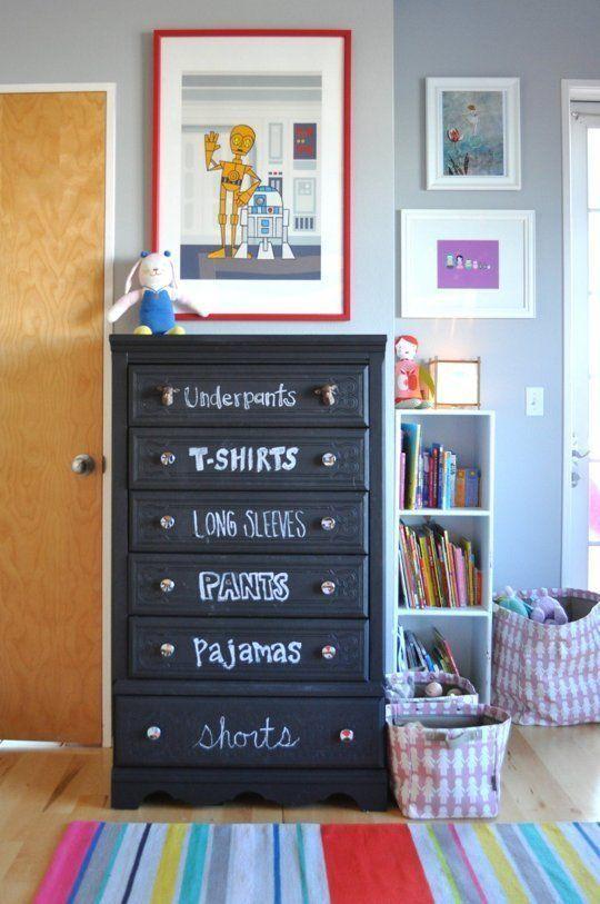 Ιδέες ντεκόρ μαυροπίνακα για παιδικά δωμάτια2