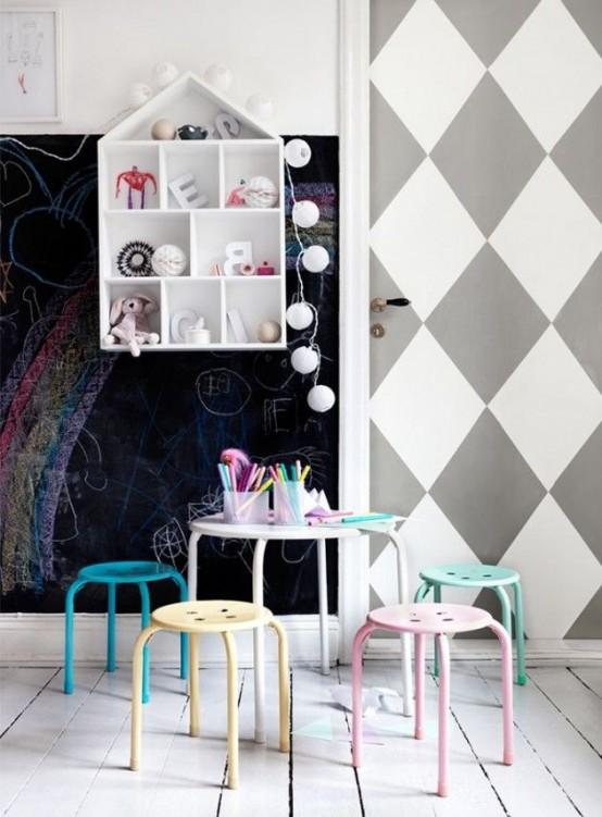 Ιδέες ντεκόρ μαυροπίνακα για παιδικά δωμάτια20