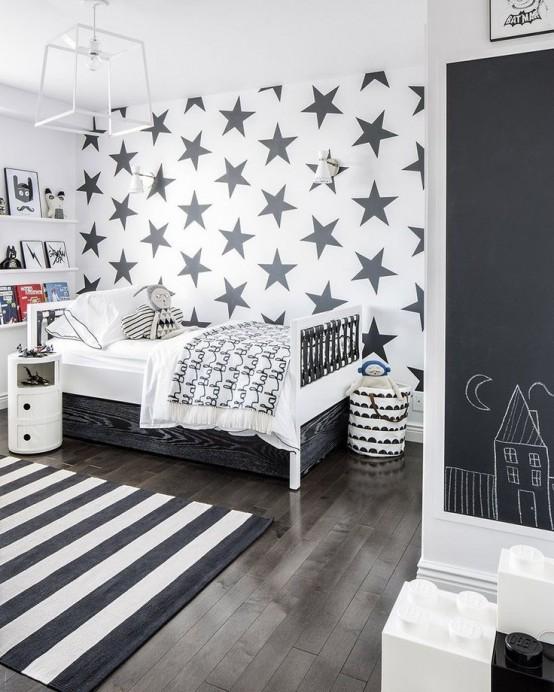 Ιδέες ντεκόρ μαυροπίνακα για παιδικά δωμάτια21
