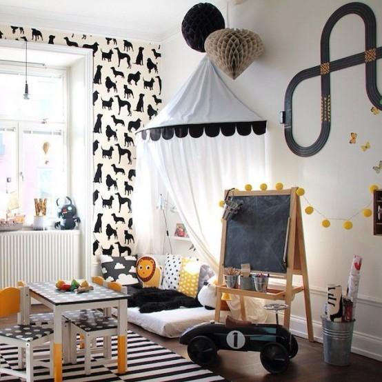 Ιδέες ντεκόρ μαυροπίνακα για παιδικά δωμάτια22