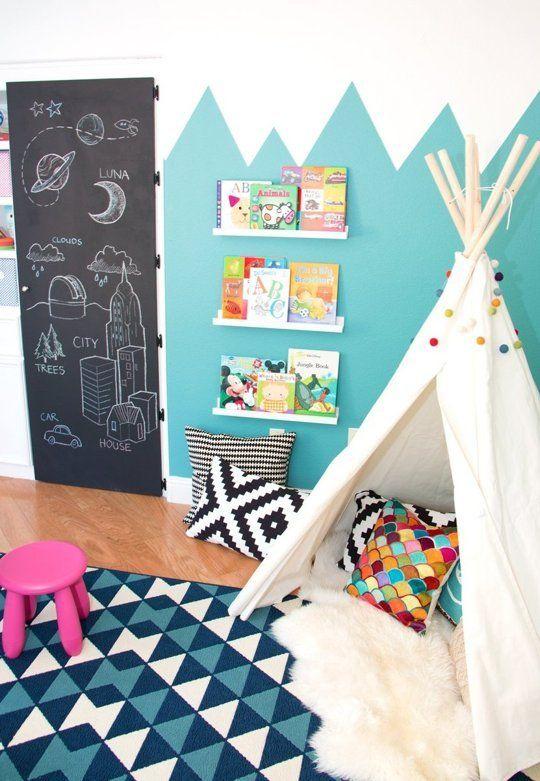 Ιδέες ντεκόρ μαυροπίνακα για παιδικά δωμάτια23