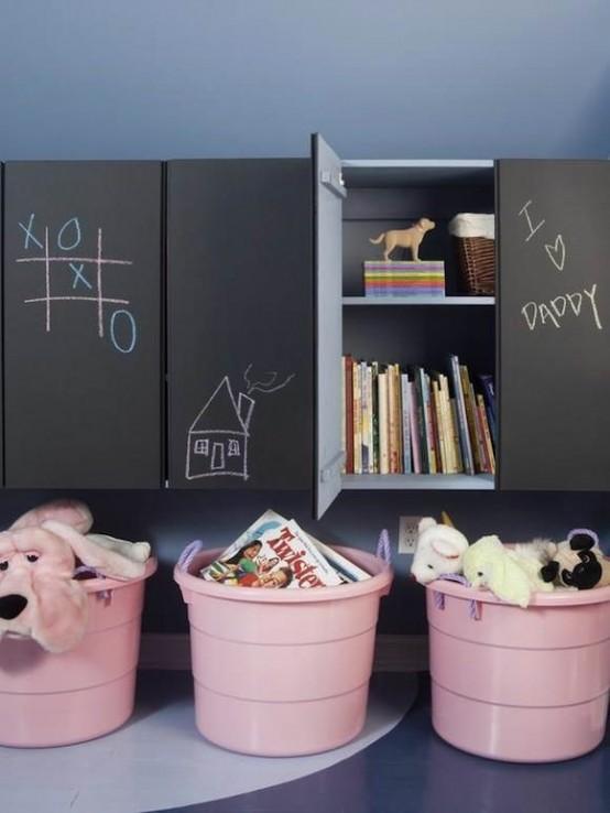 Ιδέες ντεκόρ μαυροπίνακα για παιδικά δωμάτια24