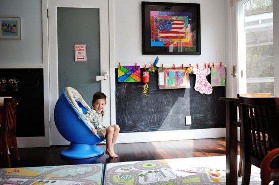 Ιδέες ντεκόρ μαυροπίνακα για παιδικά δωμάτια28