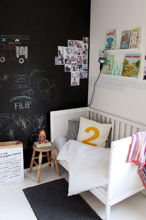 Ιδέες ντεκόρ μαυροπίνακα για παιδικά δωμάτια29
