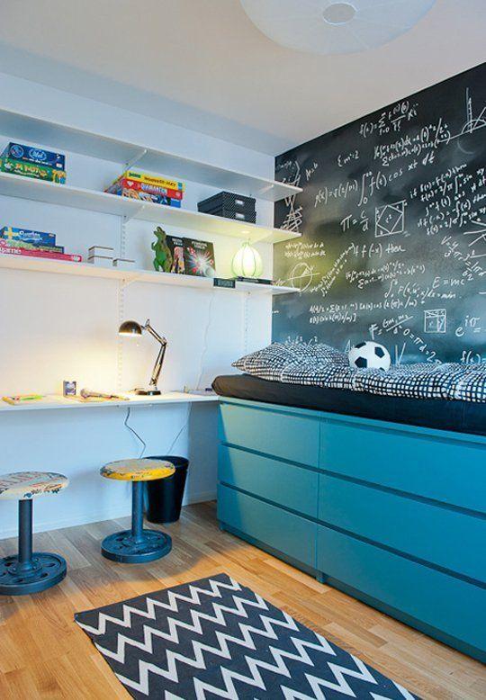 Ιδέες ντεκόρ μαυροπίνακα για παιδικά δωμάτια30