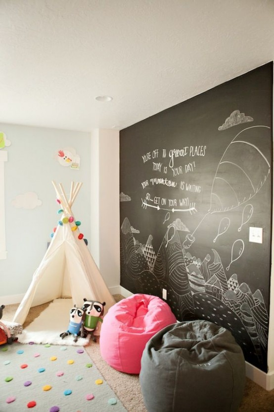 Ιδέες ντεκόρ μαυροπίνακα για παιδικά δωμάτια4