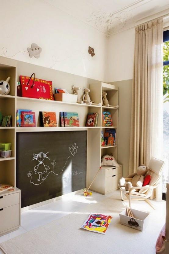 Ιδέες ντεκόρ μαυροπίνακα για παιδικά δωμάτια5