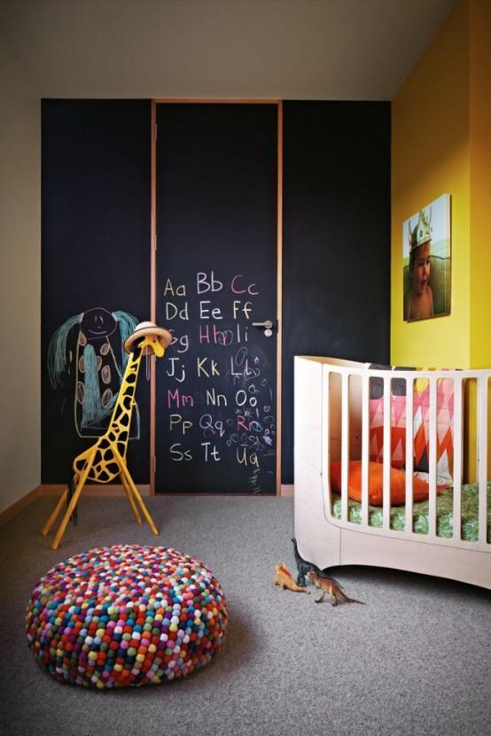 30 Τρομερές Ιδέες ντεκόρ μαυροπίνακα για παιδικά δωμάτια