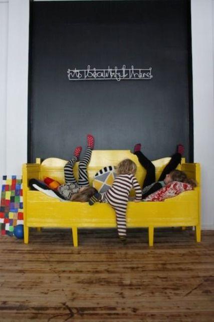 Ιδέες ντεκόρ μαυροπίνακα για παιδικά δωμάτια9