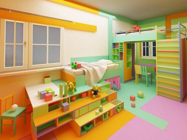 Πολύχρωμες Ιδέες παιδικού  δωματίου 12