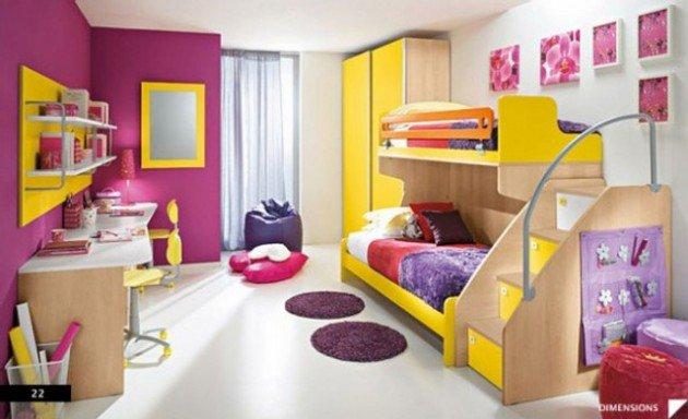 Πολύχρωμες Ιδέες παιδικού  δωματίου 13