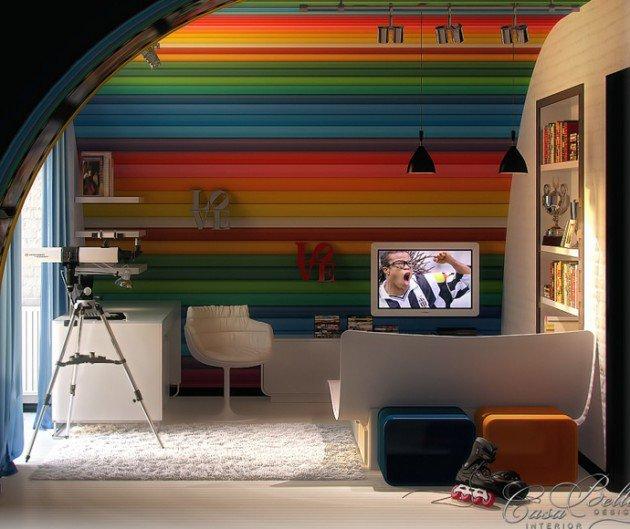 Πολύχρωμες Ιδέες παιδικού  δωματίου 14