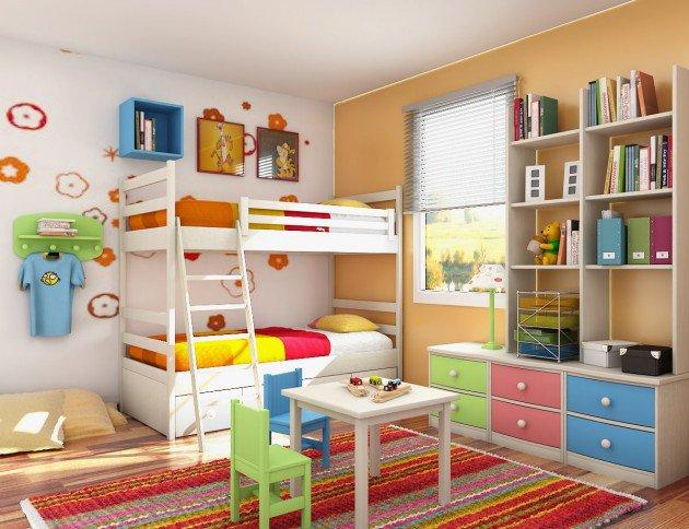 Πολύχρωμες Ιδέες παιδικού  δωματίου 3