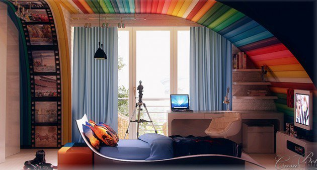 Πολύχρωμες Ιδέες παιδικού  δωματίου 8