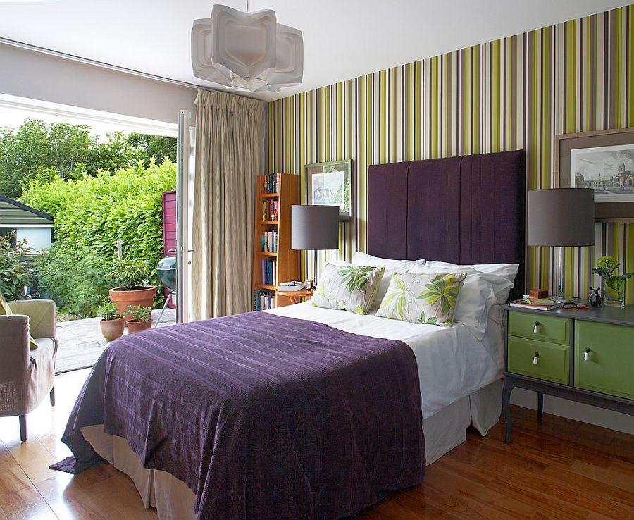 Μοντέρνα υπνοδωμάτια με Ριγέ τοίχους10