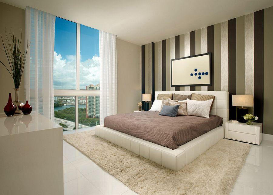 Μοντέρνα υπνοδωμάτια με Ριγέ τοίχους13