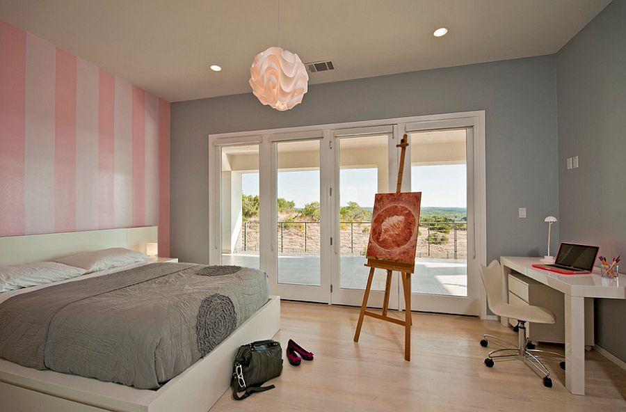 Μοντέρνα υπνοδωμάτια με Ριγέ τοίχους15