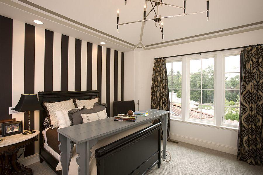 Μοντέρνα υπνοδωμάτια με Ριγέ τοίχους16