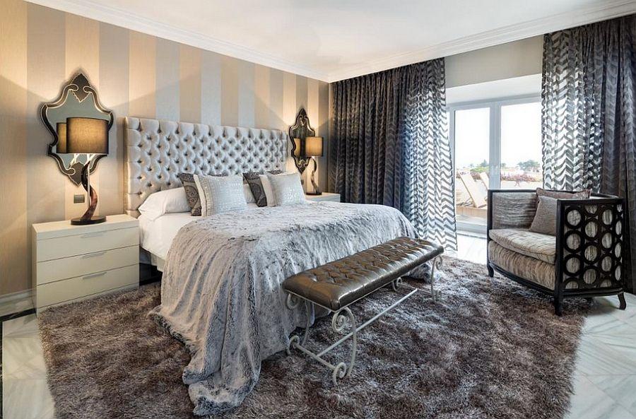 Μοντέρνα υπνοδωμάτια με Ριγέ τοίχους17