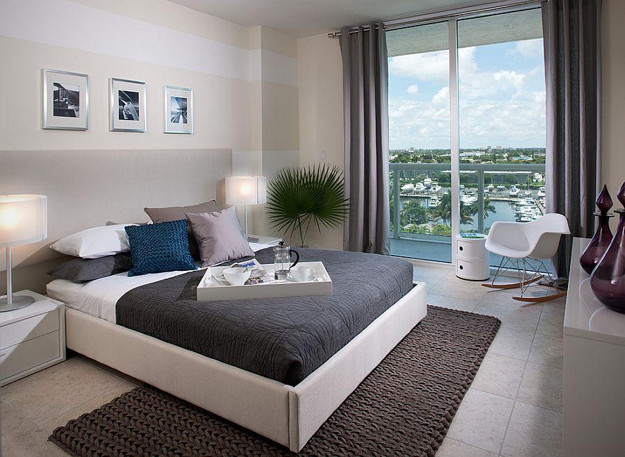 Μοντέρνα υπνοδωμάτια με Ριγέ τοίχους2