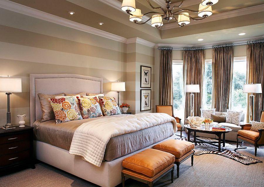 Μοντέρνα υπνοδωμάτια με Ριγέ τοίχους3