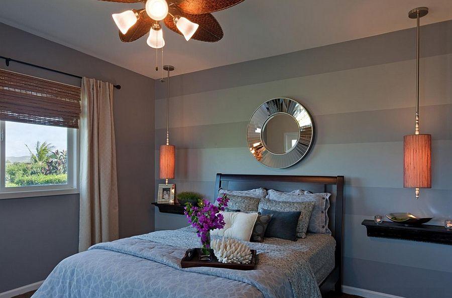 Μοντέρνα υπνοδωμάτια με Ριγέ τοίχους4