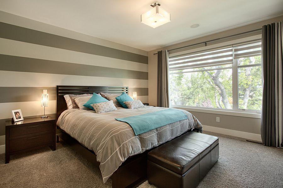 Μοντέρνα υπνοδωμάτια με Ριγέ τοίχους5