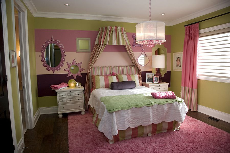Μοντέρνα υπνοδωμάτια με Ριγέ τοίχους8
