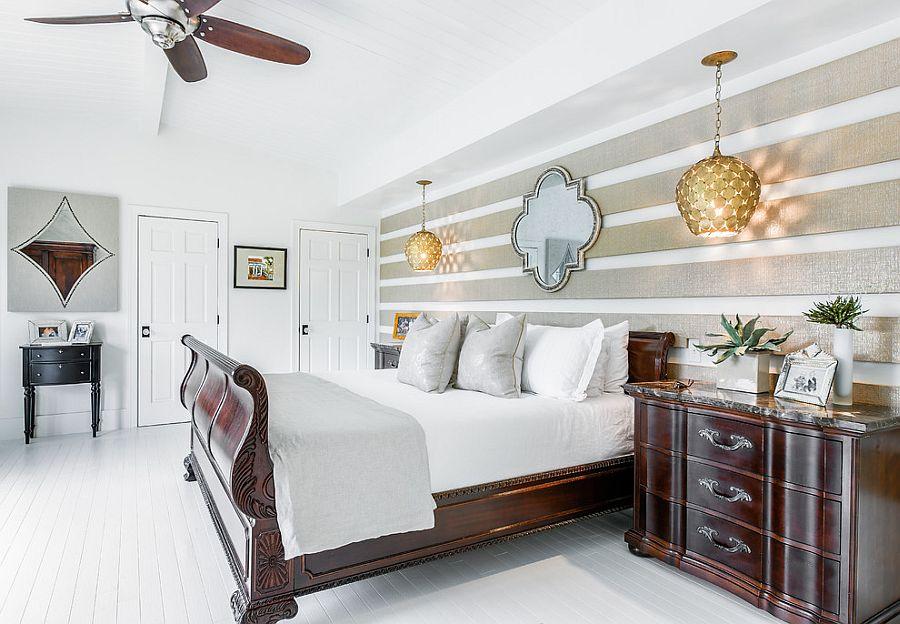 Μοντέρνα υπνοδωμάτια με Ριγέ τοίχους9