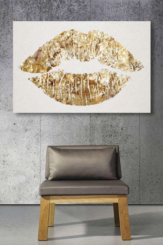 Πινελιές με χρυσό χρώμα για ένα σικ άγγιγμα