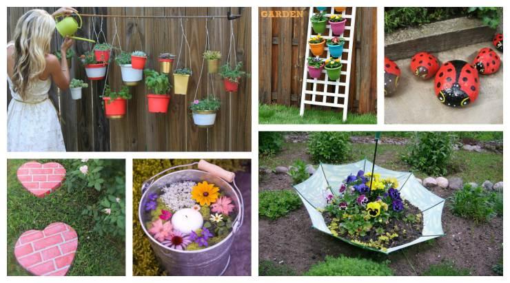 DIY καλοκαιρινά έργα για τον κήπο