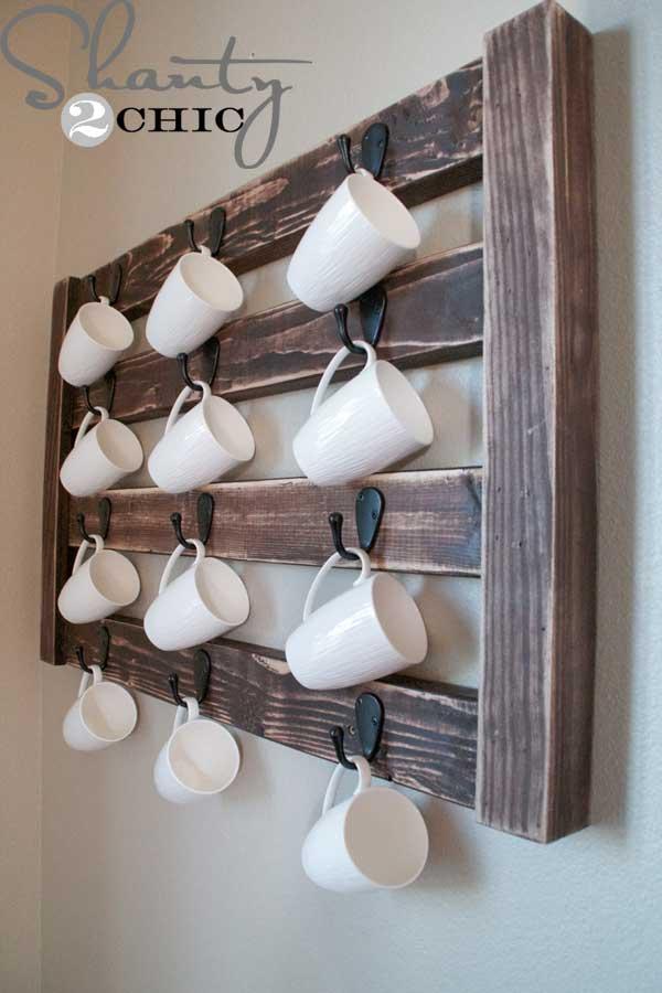 DIY ιδέες αποθήκευσης για τις κούπες του καφέ13
