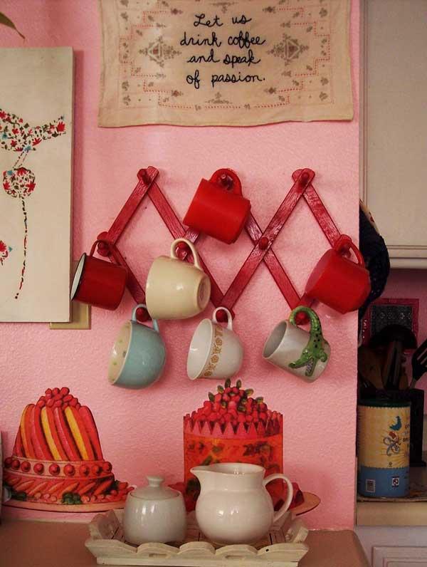 DIY ιδέες αποθήκευσης για τις κούπες του καφέ15