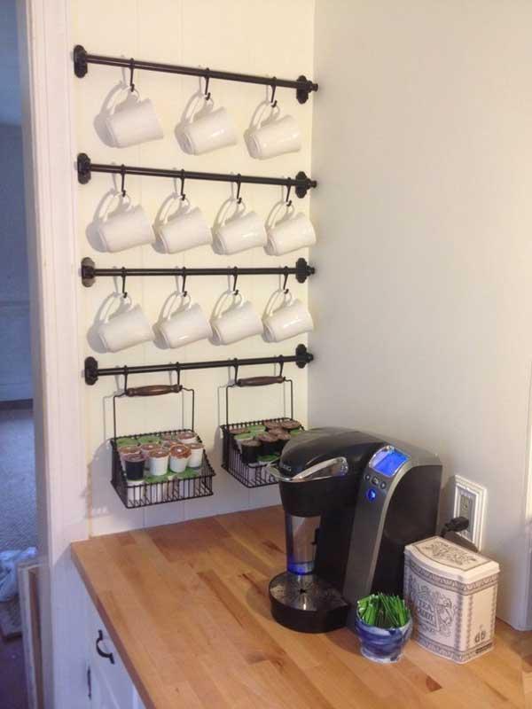 DIY ιδέες αποθήκευσης για τις κούπες του καφέ3
