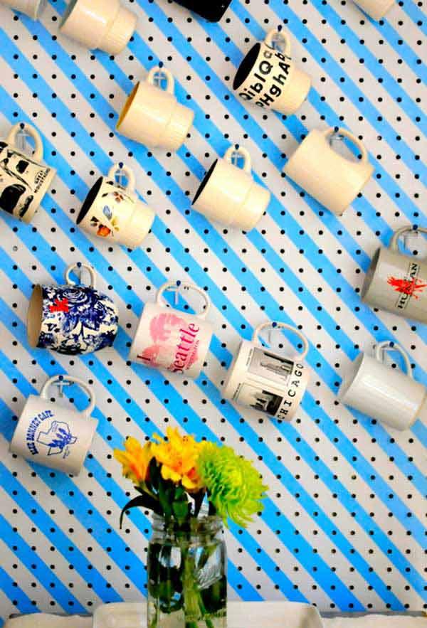 DIY ιδέες αποθήκευσης για τις κούπες του καφέ5