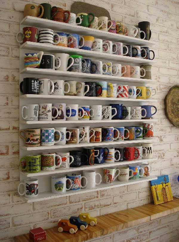 DIY ιδέες αποθήκευσης για τις κούπες του καφέ8