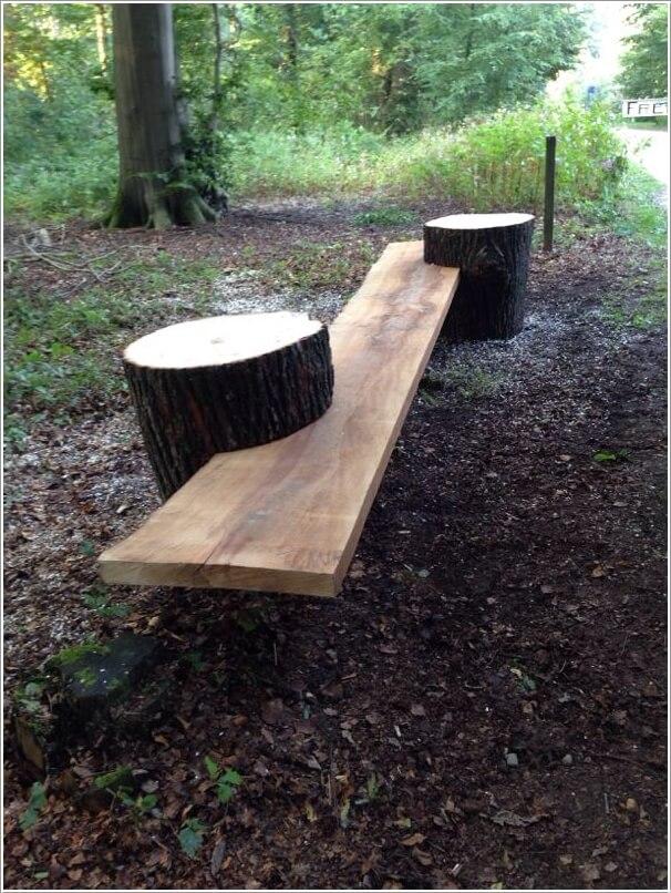 ιδέες για να διακοσμήσετε τον κήπο σας με κορμούς δέντρων ή κούτσουρα1