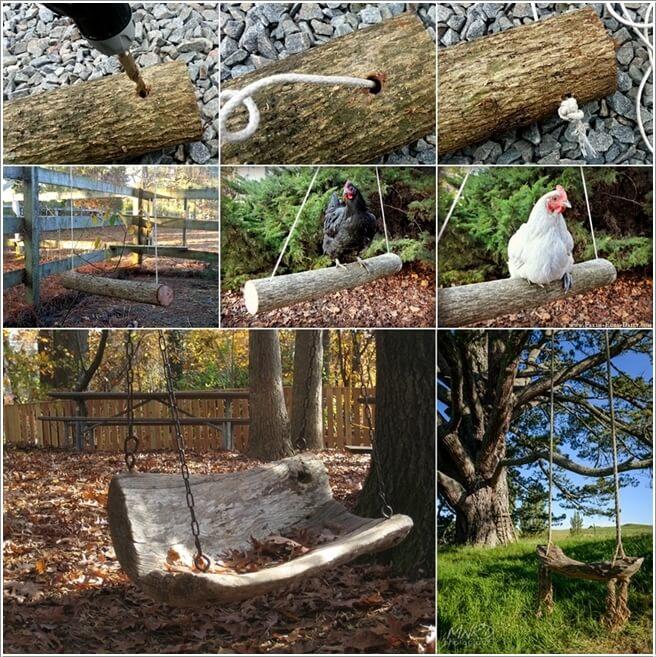 ιδέες για να διακοσμήσετε τον κήπο σας με κορμούς δέντρων ή κούτσουρα3