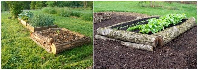 ιδέες για να διακοσμήσετε τον κήπο σας με κορμούς δέντρων ή κούτσουρα6