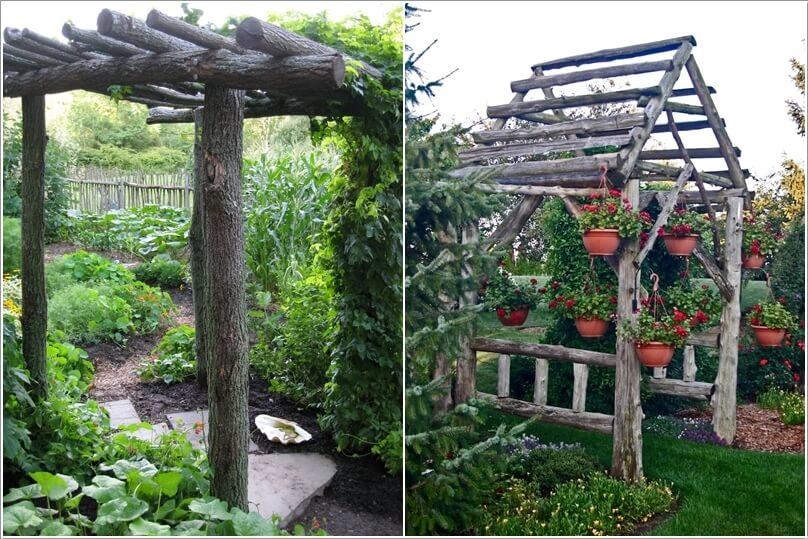 ιδέες για να διακοσμήσετε τον κήπο σας με κορμούς δέντρων ή κούτσουρα7