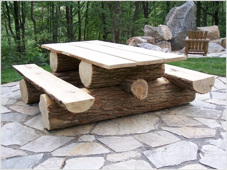 ιδέες για να διακοσμήσετε τον κήπο σας με κορμούς δέντρων ή κούτσουρα9