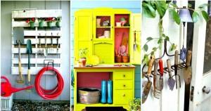DIY λύσεις αποθηκευτικού χώρου για την αυλή και τον κήπο σας